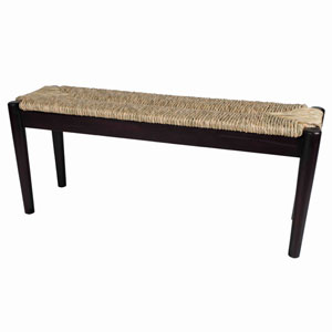 Black and Natural Light 14-Inch Bench