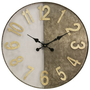 Wire Mesh and Galvanized Metal Clock