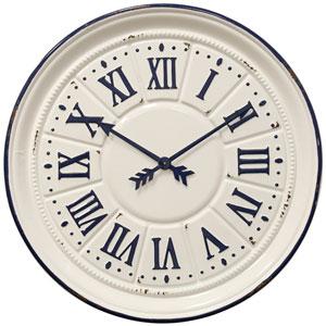 Indigo Farmhouse Wall Clock