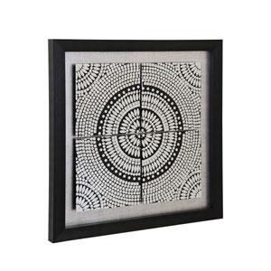 Black Kaleidoscope Print on Glass Mirror Wall Art
