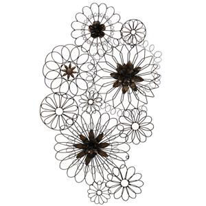 Iron Floral Metal Circles Wall Decor