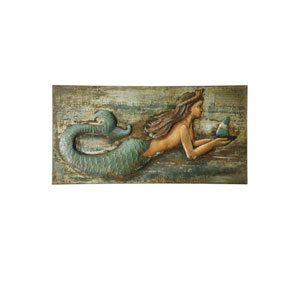 Multicolor Three Dimensional Mermaid Wall Art