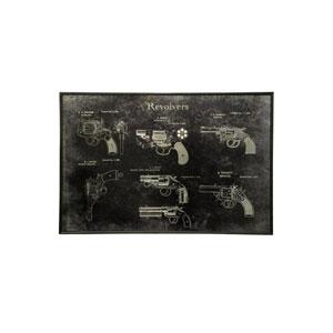 Black Printed on Metal Wall Art