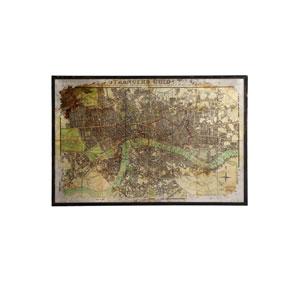 Multicolor London Strangers Guide Map Wall Art