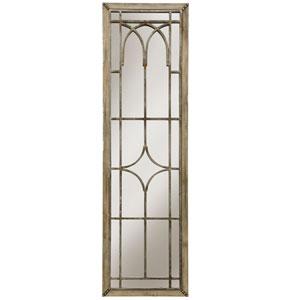 Natural Wood Mirror Panel Wall Decor