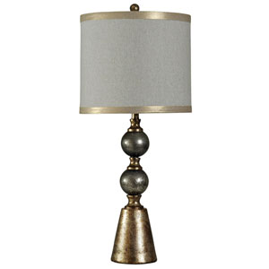 Black and Gold One-Light 35-Inch Table Lamp