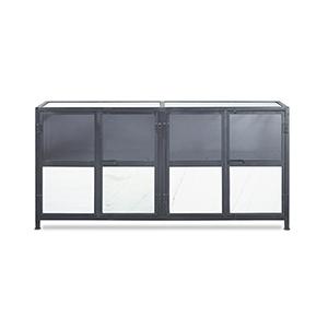 Barstow Black Marble Door Sideboard