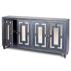 Linden Charcoal Antique Mirror Door Sideboard