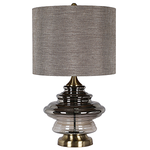 Kimball Antique Soft Brass One-Light Table Lamp