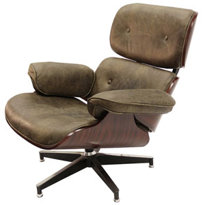 Wagner Brown Swivel Chair