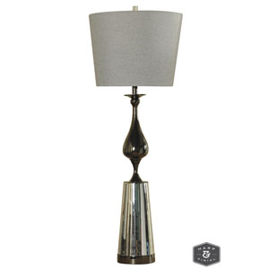 Morro Black Nickel Metal One-Light Table Lamp