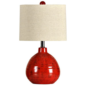 Apple Red One-Light Ceramic Table Lamp