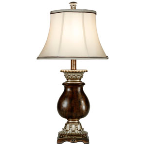 Winthrop Brown and Ivory One-Light Table Lamp