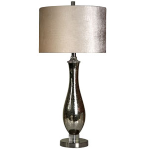 North Bay Steel and Mercury Glass One-Light Table Lamp