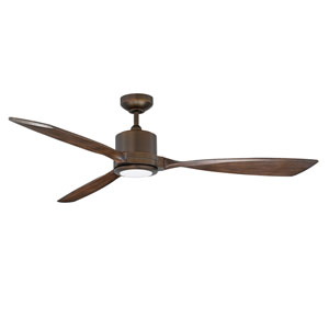 Altair Architectural Bronze 60-Inch LED DC Motor Ceiling Fan with Dark Maple Blades