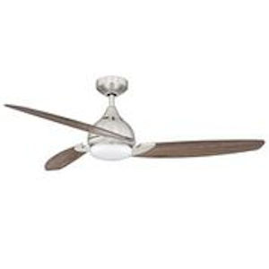 Axos Satin Nickel and Vintage Oak 52-Inch LED Ceiling Fan