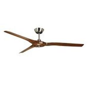 Radical Satin Nickel and Walnut 60-Inch Ceiling Fan