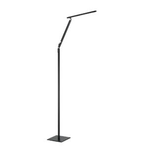 Pazz Black 56-Inch Integrated LED Adjustable Floor Lamp