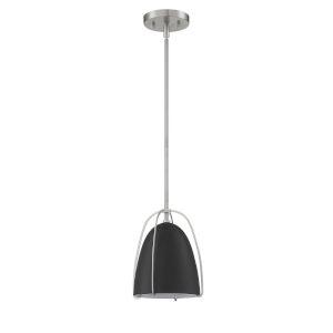 Vilia mini Black and Satin Nickel One-Light Mini Pendant