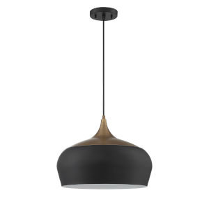 Orian grande Black and Brass One-Light Pendant