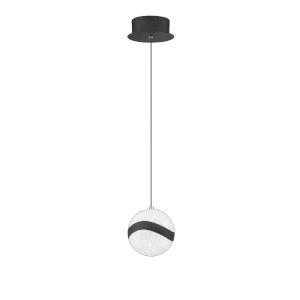 Mystyke Matte Black 6-Inch LED Mini Pendant