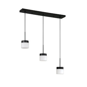 Nuon Black 27-Inch Three-Light Pendant