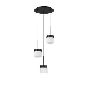 Nuon Black 12-Inch Three-Light Pendant