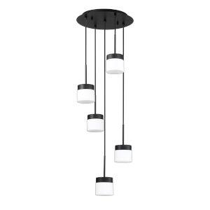 Nuon Black 14-Inch Five-Light Pendant
