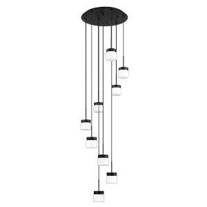 Nuon Black Nine-Light Pendant