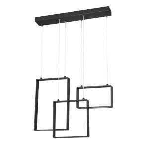 Quadron Black 28-Inch Integrated LED Pendant