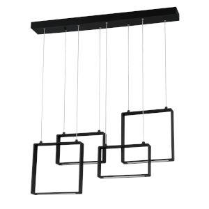 Quadron Black 36-Inch Integrated LED Pendant
