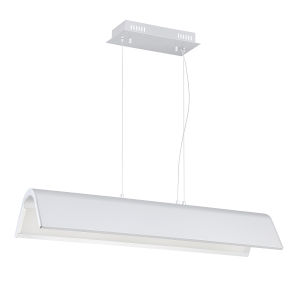 Ultimor Silver and Chrome Integrated LED Pendant