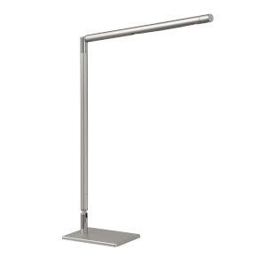 Biju Silver 17-Inch Integrated LED Adjustable Desk Lamp