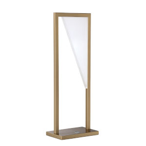 Voxx Oilcan Brass 20-Inch Integrated LED Table Lamp