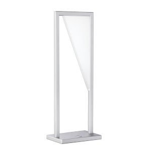 Voxx Silver 20-Inch Integrated LED Table Lamp