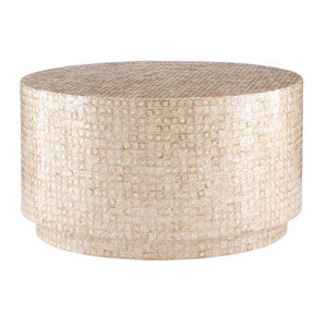 Magana Gold and Ivory Coffee Table