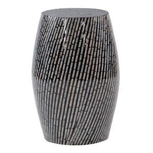 Prudence Black and White Drum Table
