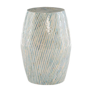 Remi Blue and White Drum Table