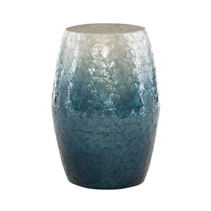 Prudence Blue Ombre Drum Table