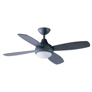 Aviator 42-Inch Wrought Iron with Reversible Black and Black-Cherry Blades Ceiling Fan