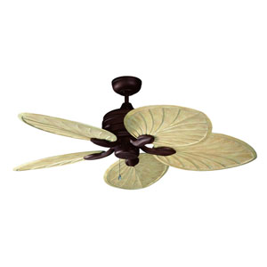 Copacabana 52-Inch Oil Rubbed Bronze with Palm Style Washed Oak Blades Ceiling Fan