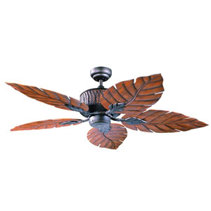 Fern Leaf 52-Inch Oil Rubbed Bronze with Oak Fern Leaf Blades Ceiling Fan