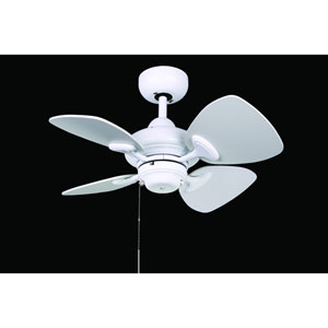 Aires 24-Inch White with White Blades Ceiling Fan