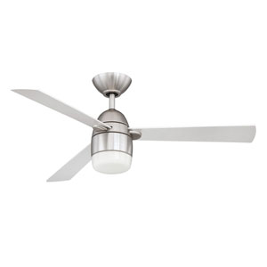 Antron 42-Inch Satin Nickel with Silver Blades Ceiling Fan