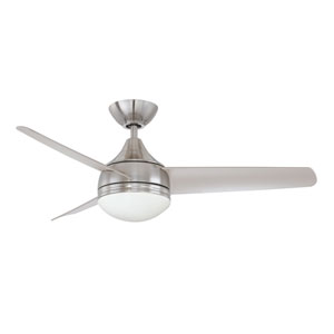 Moderno 42-Inch Satin Nickel with Silver Blades Ceiling Fan
