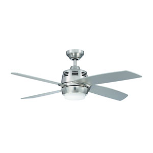 Ventura 2 44-Inch Satin Nickel with Silver Blades Ceiling Fan