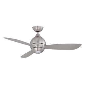 Sphere 2 44-Inch Satin Nickel with Silver Blades LED Ceiling Fan
