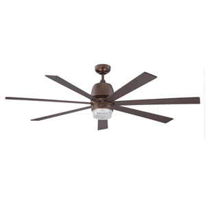 Sixty-Seven 60-Inch Architectural Bronze with Matching Blades Ceiling Fan