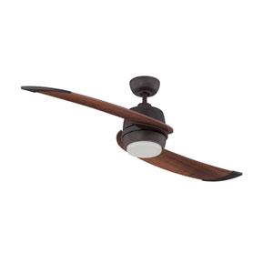 Ellipse 52-Inch Barcelona Bronze with Dark Walnut Blades LED Ceiling Fan
