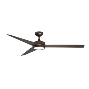 Triceptor 60-Inch Architectural Bronze LED Ceiling Fan